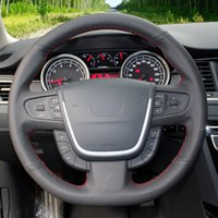 Hand-stitched Black Artificial Leather Car Steering Wheel Cover For Peugeot 508 2011-2018 508 SW 2011-2018