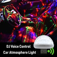 USB Car Atmosphere Light Colorful DJ Music Bulb for Auto Interior Lights Holiday Party Night Club Led Lamp