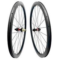 Roues à vélos 700c 60mm TUBLESSE TUBLESSET DE DISQUE DE CYCLOCROSSE DE CYCLOCROSS DE TUBES 100X12 ARRIÈRE 142X12 ROUES ROUES CENTRALE CENTRALE