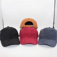 Tampões de beisebol do vintage corduroy para homens mulheres hardtop bola de bola moda outdoor street sun chapéus com logotipo drop shipping
