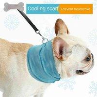 Pet, Wiosna Letnia Oddychająca Trójkąt chłodzący Małe i średniego Bulldog French Bulldog Cat Scarf Collar