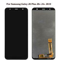 لوحات Touch Samsung Galaxy J610 المستخدمة لإصلاح عرض الهاتف جودة عالية الأصلي J4 J6 Plus Prime J415 J610F محول الأرقام استبدال شاشة LCD الجمعية