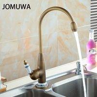 Kitchen Faucets Ceramic Spool Faucet Antique Brass Bathroom Basin Swivel Spout Vanity Sink Mixer Tap Single Handle Cocina