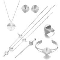 Earrings & Necklace Ethiopian Gold Hair Piece Pendant Chain Earings Ring Pin Bracelet Eritrea Africa Habesha Wedding Jewelry Set