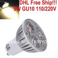 Bulbs DHL FEDEX Free High Power Dimmable GU10 3*3W 9W 85-265V LED Light Bulb Lamp Spotlight 100pcs