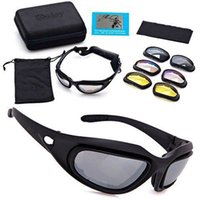 Daisy C5 Óculos de óculos, óculos de equitação, óculos de sol de táticas polarizador, visão noturna, prova de poeira, óculos de motocicleta de areia windblown