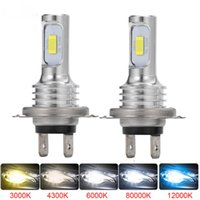 H4 H7 H11 H16 LED Car Headlight Bulb Beam Kit 12V 80W High Power Car Fog Light 6000K Auto Headlight Bulbs 12000LM