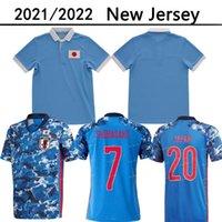 21 22 22 Giappone National Team 100th Anniversary Special Okazaki Kagawa Mens Soccer Jerseys 2021 2022 Honda Hasebe Nagatomo Casa Blu Camicie da calcio Blu Uniformi