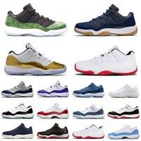 Bred 11 أحذية كرة السلة Jumpman 11S رجل مدربين رياضيين 23 الذكرى كونوفر 45 ليرة هيريس مارون بارد رمادي منخفض أحذية الكرز