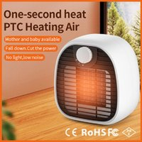 1PC Electric Space Heater mini with Thermostat 500W 1000W Portable Safe and Quiet PTC Ceramic Fan Heat Up 200 Square Feet for Office Room Desk Indoor Use DHL