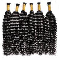 Yüksek kaliteli toplu insan saç demetleri derin dalga örgü saç 24 inç doğal siyah renk 100% remi saç 14-28 inç