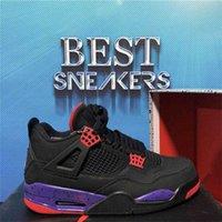En Kaliteli Jumpman 4 4 S Basketbol Ayakkabıları Erkek Kadın Koşu Sadık Mavi Yelken Kaws Raptors Beyaz Çimento Alternatif Motor Sporları Brat Bred Spor Sneaker ile Kutusu RSC7