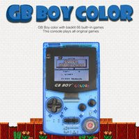 """Portable Game Players 2021 GB Boy Colour Color Handheld Player 2.7"""" Classic Console Consoles With Backlit 66 Built-in Games"""