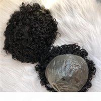 Peau mince Remy Indien Remy Court Cheveux humains Toupese Hommes Perruque Toupee Remplacement de la perte de cheveux Hommes