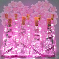100 Pack 6.6ft Wine Bottle Lights 10 15 20 LEDs 3.3ft for Christmas Valentine Waterproof LED Cork Shape Silver Wire Fairy Lights for Jar Party Wedding Bar Gift Decoration