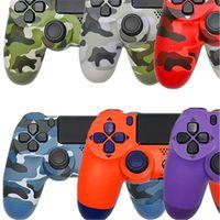 22 ألوان تحكم ل PS4 الاهتزاز جويستيك Gamepad Bluetooth Game Game Controller مع حزمة التجزئة مربع EU والولايات المتحدة