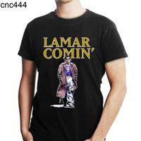 Lamar Jackson Comin Gömlek Unisex Yetişkinler Kız Komik Tee Kadınlar Grafik Siyah