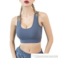 Own Brand Breathable Back Mesh Sport Bra Push Up Top Fitness With Solid Wide Shoulder Straps For High Impact Shockproof Active Brassiere
