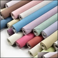 Décor & Gardendecor Wallpapers Home Modern Solid Color Silk Non Woven Wall Paper Rolls Decorative Bedroom Wallpaper Green Blue1 Drop Deliver