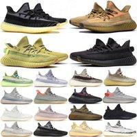 Kanye Erkek Kadın Ayakkabı Eğitmenler Karbon Külçesi Bulut Kremi Beyaz Zebra Statik Siyah Yekeil Yansıtıcı Beluga Doğal Moda Açık Sneakers