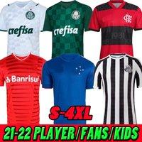 21 22 Cruzeiro Sao Paulo Aways Futbol Forması 2021 2022 Flamenko Palmeiras SC Uluslararası Santos Futbol Gömlek S-4XL
