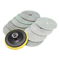 Accessoires à outils de puissance à main 10pcs Tampons de polissage à diamants de 4 pouces pour pierre en béton en marbre en granit