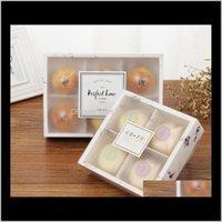 Emballage Office School Business Industri Industriel Livraison 2021 100pcs / Lot Transparent Givré Cake Cake Box Dessert ARONS PAYSYCAKES PASSY PACKAGI