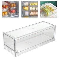 1PC 냉장고 주최자 빈 소설 실용 투명 냉장고 컨테이너 보관 케이스 병 항아리