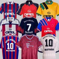 94 95 96 97 98 99 00 01 13 13 Bayern Munich Finals Retro Jerseys 02 Final Elber Zickle Effenberg Pizarro Scholl Matthaus Klinsmann 축구 셔츠 1995 2001