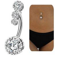 Crystal Zircon Belly Button Bagues 316L Bagues de nombril en acier chirurgical Belly Piercing Nombril Ombligo Femmes Hommes Boîte Bijoux