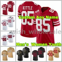 2021 49ers American Football Jerseys George 85 Jersey Fred 54 Warner Trey 5 Lance Nick 97 Bosa Deebo 19 Samuel Joe 16 Montana Steve 8 Jovem costume costurado