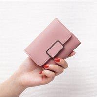 Первый слой слоя коровьей женщин мини-кошельки RFID блокируют кошельки кредитных карт для мужчин короткий кошелек с карманной монетой Настоящая кожа