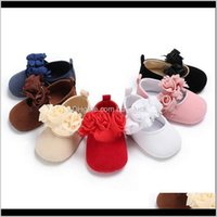 Baby, Kids & Maternity0-18M Lovely Born Baby Girl Flower Crib Shoes Princess Soft Sole Sneaker Anti-Slip Prewalker First Walkers Drop Delive
