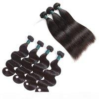 Cutículas alineadas extensiones de cabello Grado 10a Brasileño Virgen del pelo de la Virgen 3 Paquetes con cierre de encaje 4x4 o lace de 13x4 Frontal de gran calidad
