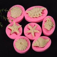 3D продовольственные формы для пищевых форм для выпечки морской темы помадка силиконовые формы DIY ручной работы украшения торта
