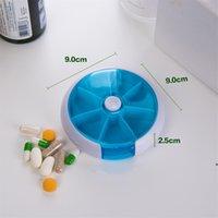 스토리지 박스 라운드 주당 7 개의 그리드 회전 결합 알약 상자 의학 분류 휴대용 7 그리드 플라스틱 캐리 - 온 DHD6597