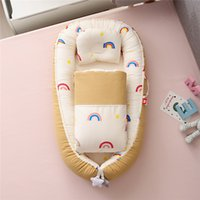 50x85cm Baumwollkrippe mit Quilt Tragbares Nest Mesh Kleinkind Bassinet für Babybett Cunas Para El Bebe