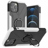 Kickstand Cases invisble ring holder car Magnetic Mecha Bear For Iphone 12 12Pro 12ProMax 11 11pro 11promax XR XS TPU+PC With oppbags