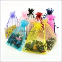Gift Event Festive Supplies Home & Gardengift Wrap 100Pcs Lot Organza Bag Jewelry Packaging Wedding Party Goodie Packing Favors Cake Pouches