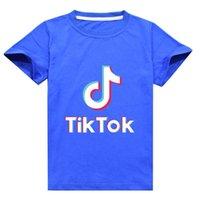 Tiktok رسائل طباعة بلايز الصيف للأطفال تيك توك الاطفال الأزياء العصرية القطن تي شيرت طفل الفتيان الفتيات قصيرة الأكمام تي شيرت المحملة G62NBDQ