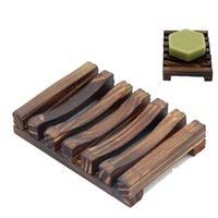 Natural Bamboo Wooden Soap Dishes Plate Tray Holder Box Case Shower Hand Washing Soaps Holders