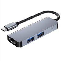3 in 1 Typ C Multi-Interface 3-Port USB HUB-C Mini-Spliter-Adapter HDMI Black High Speed Hub USB3.0 Multifunktional für PC-Computerzubehör