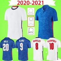 England 2020 2021 축구 유니폼 홈 화이트 멀리 블루 Lingard Kane Sterling Football Shirt 성인 Vardy Boys Dele 20 21 Mens Kids Kit
