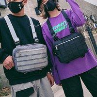 Unisex Göğüs Teçhizat Çanta Streetwear Çanta Yelek Kadınlar Için Omuz Hip Hop Askeri Taktik Paket Seyahat Bel Paketleri