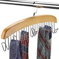 Hangers & Racks Wooden Storage Multifunctional Clothes Scarf Organizer Men Tie Belt Hanger Case Home Rack Accessories Hoot