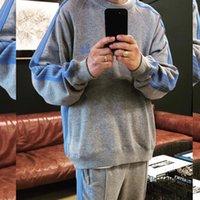 Мужские дизайнерские трексуиты 20aw иглы бабочка вышивка костюм костюм лебедка брюки пуловер скалистый двухсексуальный фитнес с длинным рукавом