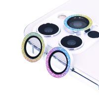 iPhone 12 Pro / 12 Pro Max, 다이아몬드 반짝이 링 커버 서클 안티 스크래치 강화 유리 여성 2020 용 카메라 렌즈 보호 장치