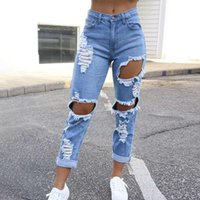 Women's Jeans Pocket Small Leg Classic Sexy Capris 2021 Spring And Summer Street Style Mid Waist Female Multi Hole Skinny Jean