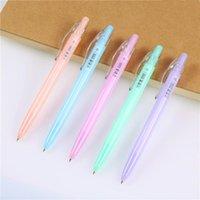 Ballpoint Pens 1pcs Candy Color Kawaii Pen Plastic Ball School Supplies Stationery