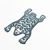 Оптовая 100см * 150см 19ss человек сделал белый медведь ковер плюшевые ручной работы творческий модный модный салон ковер большой мат пола поставщик xvnw 3qww